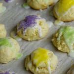 Mini King Cakes for Mardi Gras