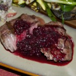 Grilled Steaks with Blackberry Merlot Sauce