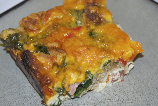 Healthy Ham and Cheese Breakfast Casserole | Flying on Jess Fuel