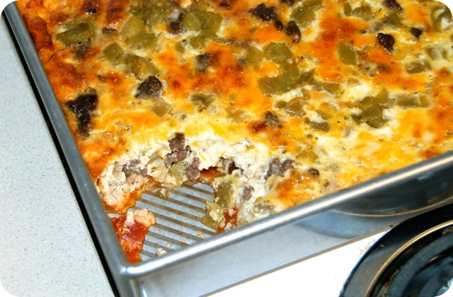 Chile Rellenos Casserole | Flying on Jess Fuel