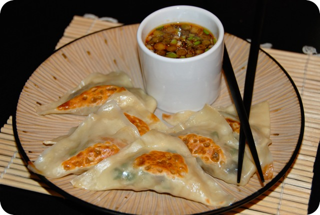 Veggie Potstickers with Spicy Soy Dipping Sauce | Flying on Jess Fuel