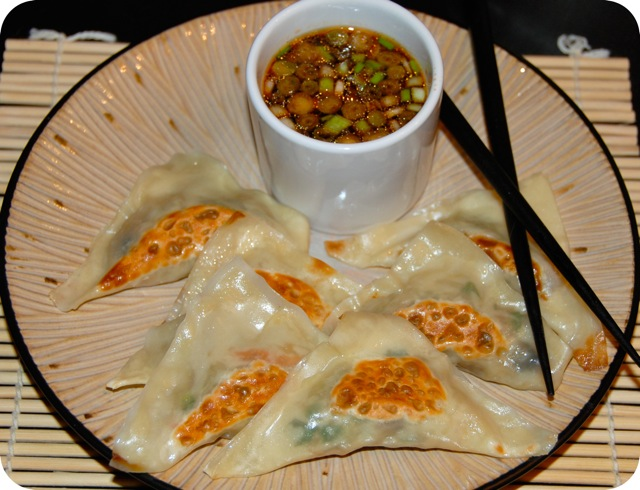 Veggie Potstickers with Spicy Soy Dipping Sauce