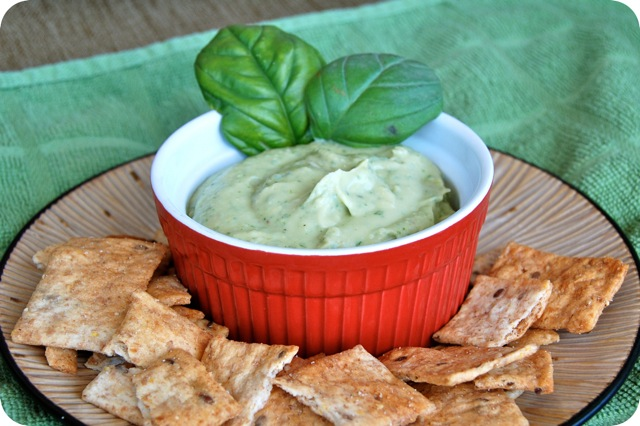 White Bean & Basil Hummus | Flying on Jess Fuel