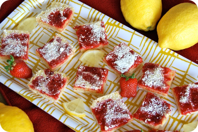 Strawberry Lemon Bars | Flying on Jess Fuel