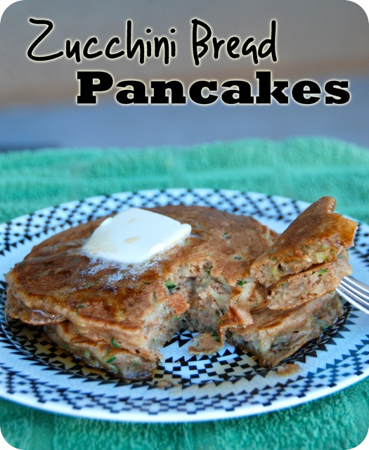 Zucchini Bread Pancakes | Flying on Jess Fuel