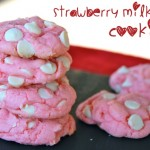 Strawberry Milkshake Cookies