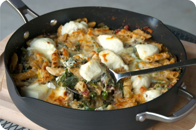 Springtime Vegetable Skillet Baked Ziti