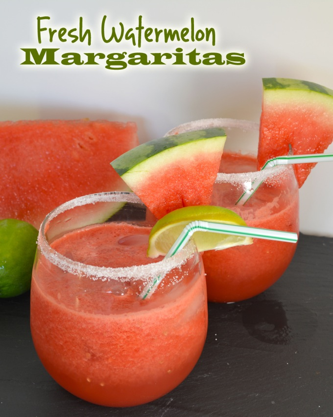 Fresh Watermelon Margaritas | Flying on Jess Fuel