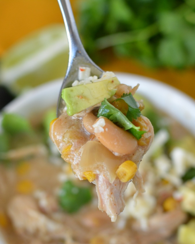 Slow Cooker White Chicken Chili Flying On Jess Fuel