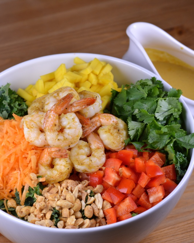 Thai Shrimp Salad with Coconut Curry Dressing | Flying on Jess Fuel