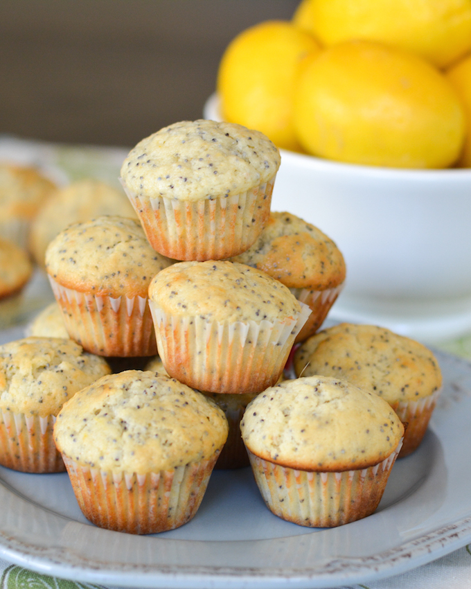 These Lemon Poppy Seed Mini Muffins add a fresh burst of brightness to ...