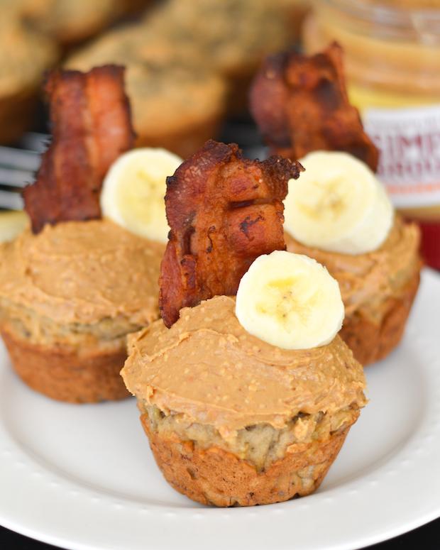 ... Butter, Banana & Bacon Elvis Breakfast Cupcakes | Flying on Jess Fuel