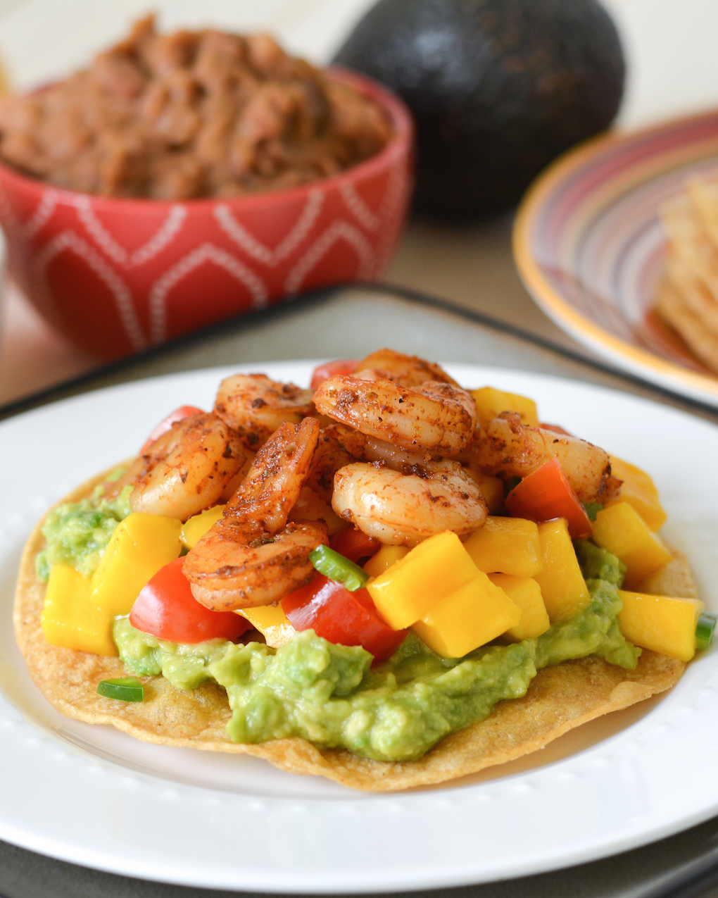 ... avocado salsa cucumber avocado salsa grilled shrimp tostadas with a